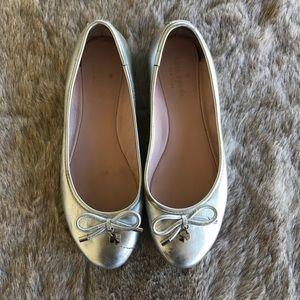 Kate Spade Silver Ballerina Flats Size 7
